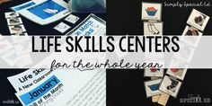 Being a life skills teacher is HARD. WORK. You have all the weight of a regular special ed teacher with the paperwork, testing, accommodations, inclusion, AND the weight of the world on you to PREP these kids for LIFE. Check out my blog post on how I set up my Life Skills Monthly Center!