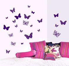 Vinilos decorativos: fotos de algunos modelos - Vinilos decorativos: vinilo decorativo con mariposas