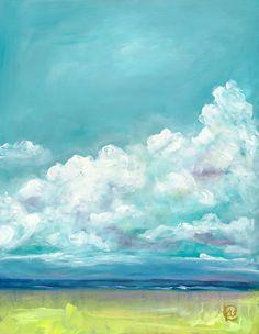 Summer getaway III by Kellee Wynne Conrad, coastal beach acrylic painting for sale at Kellee Wynne Studios