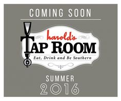 Harold's Restaurant, Bar and Terrace Plans Expansion With New Tap Room and is coming soon! Summer 2016