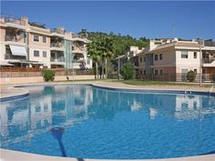 luxury complex with communal swimming pool and garden. New 3 and 4 beds from Spain Property Partners Investment Property, Swimming Pools, Beds, Spain, New Homes, Mansions, Luxury, House Styles, Garden