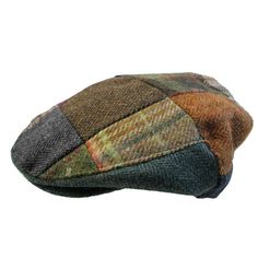 Patchwork Cap Irish Tweed Traditional Irish Cap Made in Ireland John... (2.400 RUB) ❤ liked on Polyvore featuring accessories, hats, tweed newsboy cap, news boy hats, apple cap, tweed cap and news boy cap