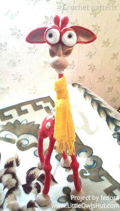 "Project by fedora. Giraffe ""George"" Amigurumi crochet pattern by Galina Astashova for LittleOwlsHut#LittleOwlsHut, #Amigurumi, #Astashova, #CrochetPattern, #Giraffe, #DIY, #Pattern, #Toy"