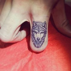 Finger Wolf tattoo by @inktao…