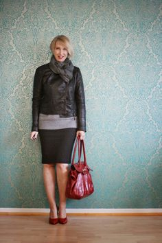 Kaschmir Pullover, Büro Outfit, rote Accessoires, Glam up your Lifestyle, Bleistift-Rock