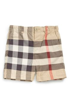 Burberry 'Sean' Check Print Shorts (Baby Boys)