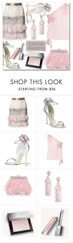 """That one guest"" by mood-chic ❤ liked on Polyvore featuring Matthew Williamson, Sophia Webster, Monse, Miss KG, BaubleBar, Burberry and summerwedding"