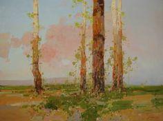 "Saatchi Art Artist Vahe Yeremyan; Painting, ""Birches Trees, Landscape oil painting, Original art, large painting, Signed"" #art"