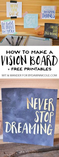 Vision Board Printable Quotes   Wit & Wander for By Dawn Nicole Header
