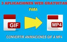 Una selección de tres herramientas online totalmente gratuitas, y sin registro, para convertir animaciones GIF en vídeos en formato MP4.