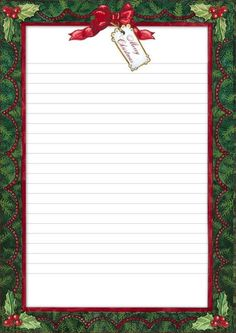 Carta a Santa Claus Christmas Boarders, Christmas Fonts, Christmas Stationery, Christmas Frames, Christmas Paper, Christmas Printables, Christmas Pictures, Xmas Quotes, Bullet Journal Ideas Pages