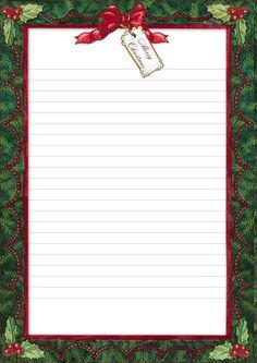 Carta a Santa Claus Christmas Boarders, Christmas Fonts, Christmas Stationery, Christmas Frames, Christmas Paper, Christmas Printables, Stationary Printable, Printable Paper, Xmas Quotes