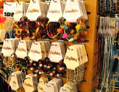 Colorful and festive jewlery at the Dollywood Emporium