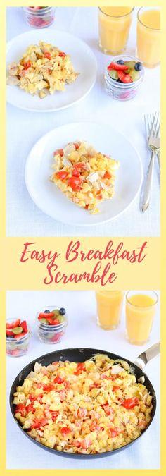 Easy Breakfast Scramble - Kiss in the Kitchen