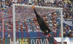 Keylor Navas(Levante) detuvo al Atlético, mayo 2014