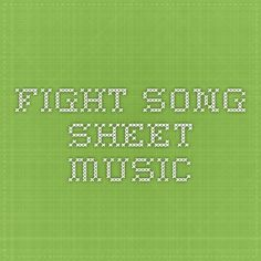 Fight Song sheet music