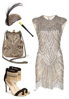 Great Gatsby style featuring Iconic by UV Via Spiga and Cartier 1920s Party Dresses, 20s Dresses, Party Dress Outfits, Great Gatsby Party Dress, Great Gatsby Outfits, Great Gatsby Fashion, Great Gatsby Style, Gatsby Look, Roaring 20s Fashion