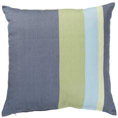 Featuring a fresh striped pattern this Basiliade Stripe Denim Cushion will add an interesting focal point to your sofa cushion collection. bq.co.uk/PUEiaQ #cushion #stripe #authentic