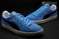 Puma Suede Vntg Distress Low Mens Shoes - Pearl Blue-Black