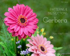 Haak Gerbera patroon haak Gerbera Daisy door HappyPattyCrochet