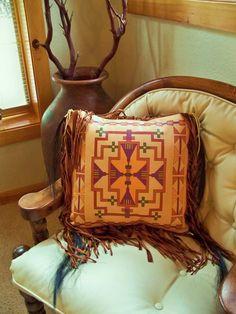Native American style art pillow Cheyenne by stargazermercantile, $225.00