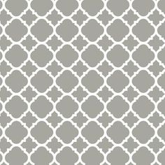 Liberty 18 in. Gray Quatrefoil Adhesive Shelf Liner-DLN005-GR-C - The Home Depot **for exposed kitchen shelves - backdrop**