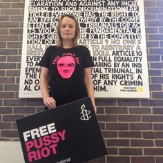 Hot off the press - our Free Pussy Riot t-shirt designed by artist David Shrigley! Just £14.99, placard not included.