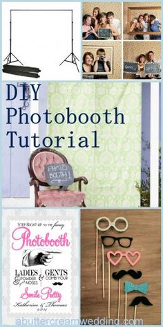 Easy to design DIY #photobooth tutorial (no hammer or Mac required!) #wedding