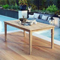 Great teak outdoor furniture atlanta ga you'll love Teak Dining Table, Patio Dining, Patio Table, Outdoor Dining, Rustic Outdoor, Outdoor Benches, Outdoor Life, Dining Set, The Fresh