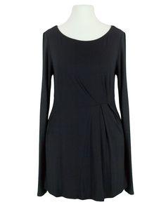 Damen Shirt mit Raffung, schwarz von S-twelve | meinkleidchen Damenmode aus Italien Shirts & Tops, Dresses For Work, Fashion, Dress Work, Italy, Fashion Women, Black, Gowns, Moda