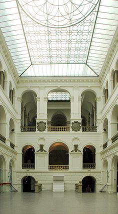 Atrium in the National Museum - Wroclaw, Poland