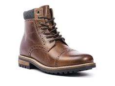 Men's Crevo Quebec Cap Toe Boot Chestnut Leather/Wool - 19115539 -  Overstock - Great Deals on Crevo Boots - Mobile
