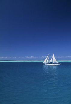 Sailing boat, Mamanuca, Fiji. #sail #fiji
