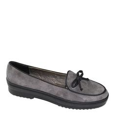 Gray Ribbons Leather Loafer by Bernie Mev 18.99 This luxe loafer boasts durable leather. a sophisticated design and a rubber sole perfect for comfortably stylish strides.  •Leather upper •Leather lining •Rubber sole