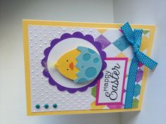 Easter card made with Cricut Simply Charmed