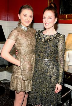 Chloë Grace Moretz helped celebrate Carrie costar Julianne Moore, who was honored by the Museum of the Moving Image in NYC Jan. 20.