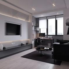 Interior design & visualization of apartment in Moscow.