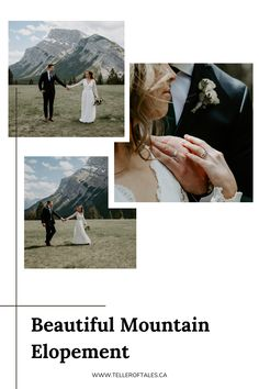 Beautiful Banff elopement at Tunnel Mountain Reservoir. To see more of this intimate wedding, visit Teller of Tales Photography. Groomsmen Suits, Mountain Elopement, Two Best Friends, Banff, Hotels And Resorts, Flowers In Hair, Wedding Photos, Wedding Photography, The Incredibles