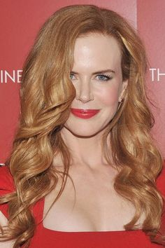 Starting the curls lower down the hair can create a romantic natural feel a la Nicole Kidman.
