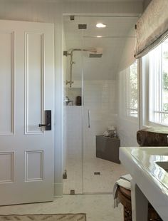 Tish Mills of Harmonious Living designed the Guest Bath, selecting our Savoy Collection for the shower wall as well as the stylish Virtue Collection for floors. #tile