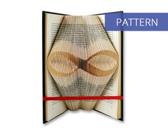 Folded Book Art Pattern - Infinity - 150 Folds - Including manual - Bookfolding Pattern - Folded Book Pattern - Book Folding pattern