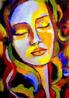 Dreamy.... Easy Canvas Painting, Acrylic Painting Techniques, Canvas Art, Fauvism Art, Portrait Art, Portraits, Zen Art, Whimsical Art, Face Art