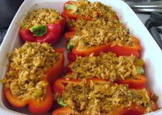 Louanne's Kitchen: Stuffed Peppers