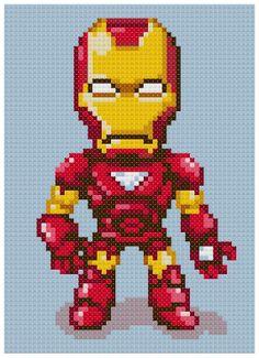 PDF Cross Stitch pattern 0007.Iron man INSTANT by PDFcrossstitch