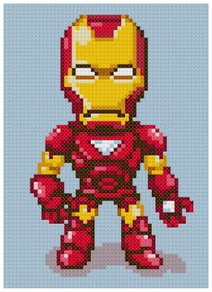 PDF Cross Stitch pattern 0007.Iron man INSTANT by PDFcrossstitch