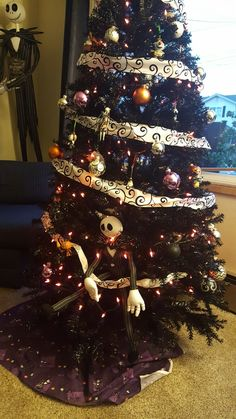 nightmare before christmas tree halloween