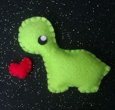 Kawaii dinosaur felt pin!