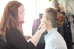 Top make-up artist Rosemary Tierney working on Dite's make-up