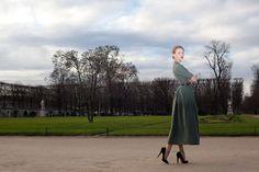 Съемка коллекции Ulyana Sergeenko в парке Тюильри, в Париже #ulyanasergeenko