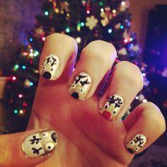 Christmas Reindeer Nails!